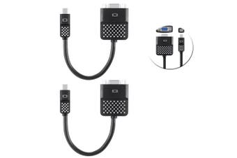2PK Belkin Mini Display Port to VGA Adapter Apple/MacBook Air/Surface Pro Cable