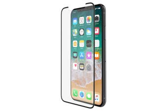 Belkin Force Tempered Glass Curve Screen Protector Guard for Apple iPhone X BLK
