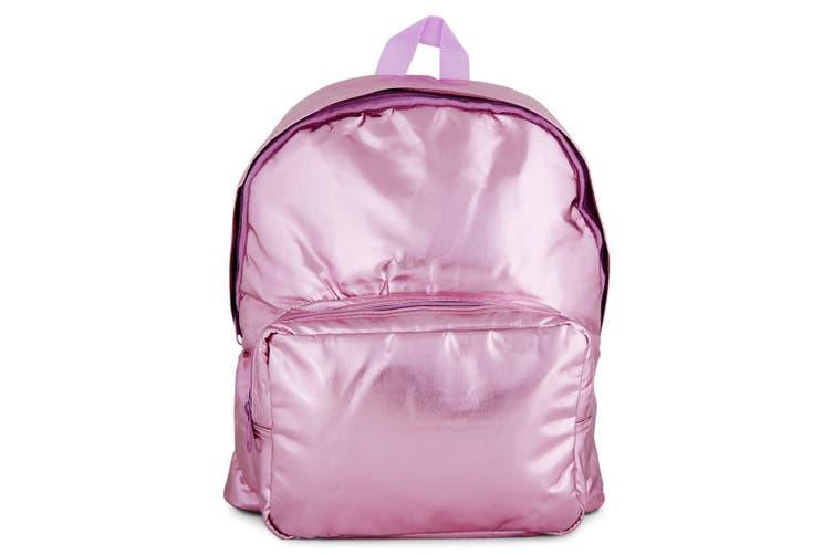 The Trendy 35cm Kids Girls Backpack Bag w/Notebook/Laptop Sleeve - Metallic Pink