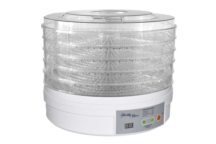 Healthy Choice 300W Food Dehydrator 5 Tier/Layer/Temperature Control/Fruit/Jerky