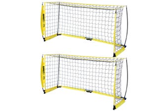 2x Summit FFA 2M Fastnet Advance/Casual Goal f Football/Soccer/Training/Portable