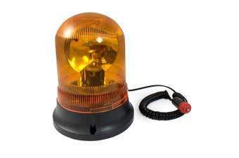 Amber Revolving Warning Light Magnetic Base Emergency/12V Car/Caravan/Truck