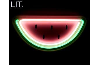 LIT LED 40cm Flexmelon Neon Watermelon Wall Light Home Decor Hang Lamp Pink/GRN