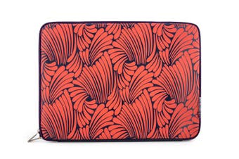 "Florence Broadhurst Case/Sleeve Pouch Bag Cover for 15.5"" Notebook/Laptop Coral"