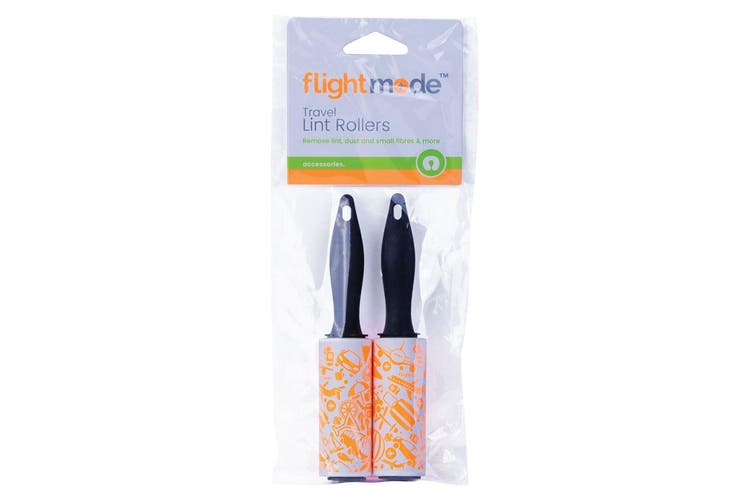 2PK Flight Mode Travel Garment/Fabric Lint Cleaning Rollers Fur Hair Remover