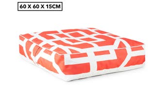 Gracious Living 60cm Outdoor Inflatable Air Ottoman/Cushion Square w/Cover TGR