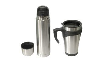 Stainless Steel Flask 450ml Mug/500ml Bottle/Double Wall Vacuum/Hot/Cold/Thermo