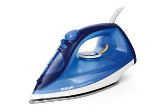 Philips EasySpeed Plus Steam Iron/Ironing Laundry Clothes w/Calc-Clean Slider