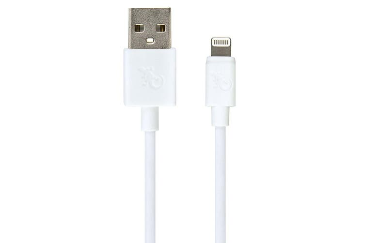 Gecko MFI 1.5m Lightning USB Charging Cable Data Sync for iPad/iPhone X/XS White