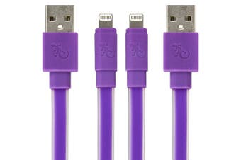 2PK Gecko 1.2m Glow In The Dark MFI Lightning USB Data Cable For iPhone/iPad PPL