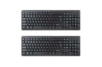 2x Gecko USB Wireless Slim Keyboard for Window/Mac Computer w/USB Transmitter
