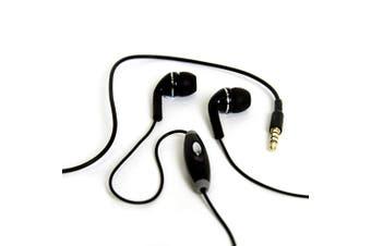 Gecko Black XD Trance Hands Free In-Ear Bud Headphones/Headset w/ Mic For iPhone