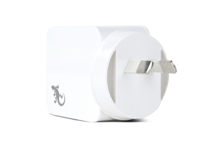 Gecko 3.4A Dual USB Wall Charger for iPhone/Samsung Smartphones/Tablet White
