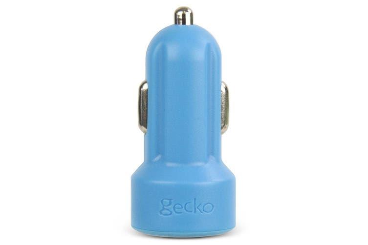 Gecko Smart 2.4A USB Car Charger for Smartphones GPS Tablet Dash Cameras Blue