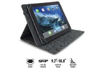 "Gecko Black Universal Grip Folio/Case/Cover Secure 9.7"" - 10.8"" for Tablet/iPad"