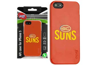 Gecko AFL Gold Coast Suns Team Cover for iPhone 5/5S/SE Case  Screen Protector