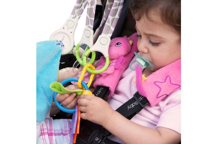 2x Benbat Baby/Infant Stroller/Prams Organizer Snack Holder/Storage 0m+ w/ Hooks