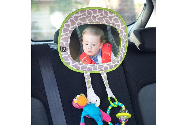 Benbat Baby Car Inside Seat Mirror Safety Rear Facing Infant Care w/ Toy Holder