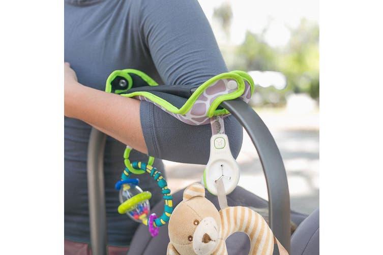 2PK Benbat Baby/Infant Car Seat Comfy Handle Cushion 0-12m Toy/Accessory Holder