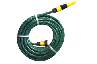 """15m x 1/2"""" Fitted Water Garden Hose Pipe Watering Spray GRN Australian Made"""