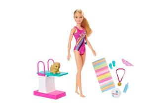 Barbie 29cm Swimmer Swim 'n Dive Doll w/ Puppy/Accessories Girls/Kids 3y+ Toys