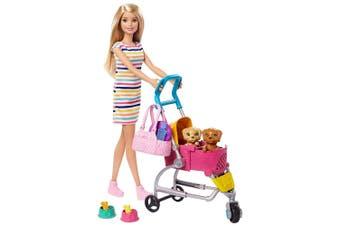 Barbie 29cm Stroll n Play Pups Doll w/ Puppy/Accessories Girls/Kids 3y+ Toys