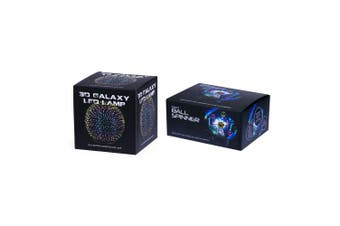 2pc 3D Galaxy 12cm LED Lamp Night Light/Kinetic Ball Spinner Desktop Accessory