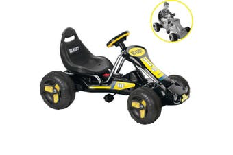 Kids Ride On Pedal Powered Go Kart Children Toy Bike/Car/Racing Buggy Black