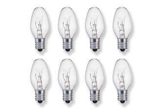 Sansai 8pk 7W/240V E14 Replacement Bulb Clear for Night Light/Lamps
