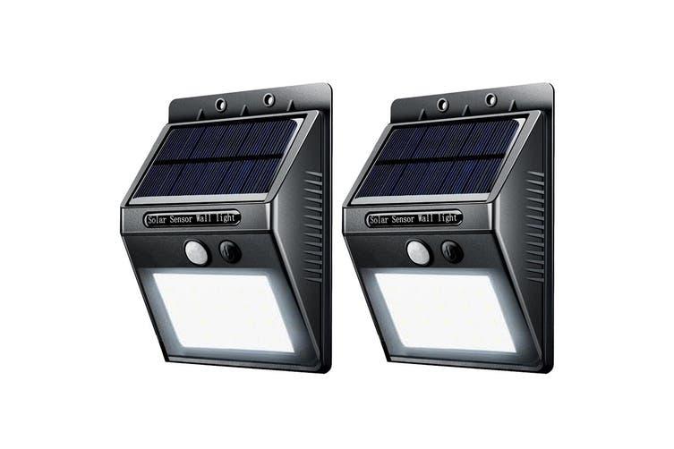 2x Sansai Wall Motion Sensor Solar Rechargeable LED Indoor/Outdoor/Garden Lights