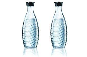 2X Sodastream Glass Carafe 600Ml Spare Bottle For Crystal & Penguin Drink Maker