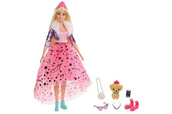 Barbie 29cm Adventure Deluxe Princess Doll w/ Puppy/Accessories Girls 3y+ Toys