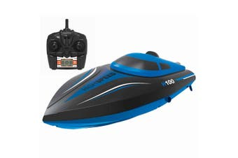 Lenoxx H100 2.4GHz Remote Controlled/RC Racing High Speed Boat f/ Kids 14y+ Blue