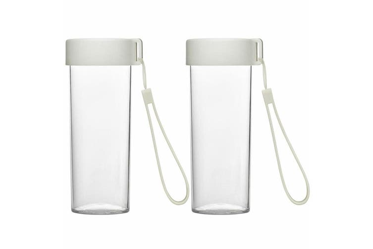 2x Emoi 480ml Eco Water Bottle Drinking BPA Free Plastic Drink Travel Cup/Strap