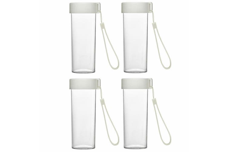 4x Emoi 480ml Eco Water Bottle Drinking BPA Free Plastic Drink Travel Cup/Strap