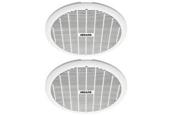 2x Heller 200mm Exhaust Ball Bearing Fan Bathroom Ventilation Ceiling Round WHT