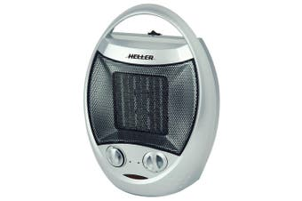 Heller 1500W Electric Ceramic Oscillating Fan Heater w/ Adjustable Thermostat