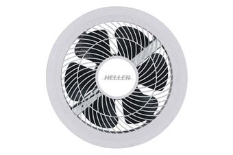Heller White 250mm Blade Extractor Bathroom/Laundry Exhaust Fan w/ LED Light