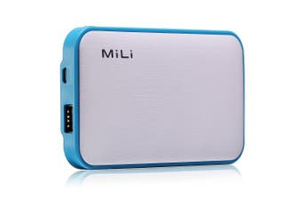 MiLi Qi Power Star III Blue 10000mAh Micro USB/Built-in Lightning Cable f/Phones