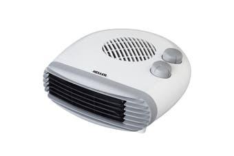 Heller 2400W Electric Portable Low Profile Floor/Desk Fan Heater w/2 Heating Set