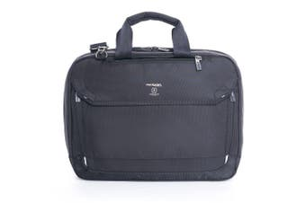 "Hedgren Link Hitch Black 3-Way Briefcase/15"" Laptop Carry Bag w/ RFID Protection"