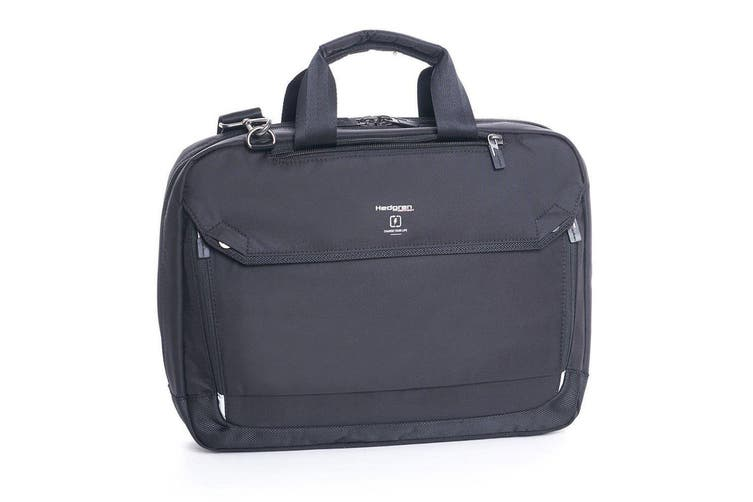 """Hedgren Link Hitch Black 3-Way Briefcase/15"""" Laptop Carry Bag w/ RFID Protection"""