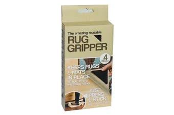 4PK Rug Gripper Reusable/Washable Anti Skid Non Slip Stopper Floor Mat Grip BLK