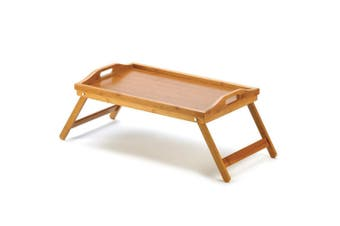 Bamboo Folding Food/Breakfast/Dinner Bed Tray Lap Desk Serving/TV Table