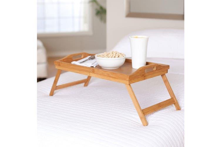 Bamboo Folding Food/Breakfast/Dinner Bed Tray Lap Desk Serving/TV Table