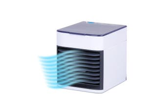 Cool Air Deluxe USB Evaporative Air Cooler Desk/Table Portable Cooling Fan White