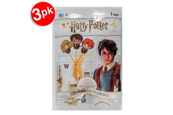 3x Harry Potter Pencil Topper Collectible Figure Blind Foilbag Kids 5y+ Assorted