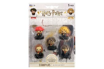 5pc Harry Potter Kids Self Ink Stamper Seal Collectible Figure 5y+ Assorted