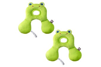 2PK Benbat Total Support Car Seat Headrest Head/Neck Travel Baby Pillow Frog GRN