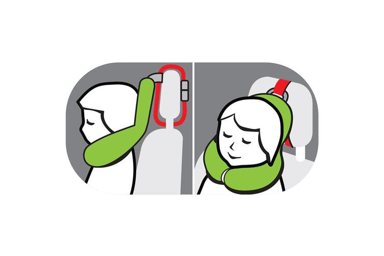 Benbat Total Support Headrest Head/Neck Travel Kids Car Seat Pillow 4-8y Dog OR